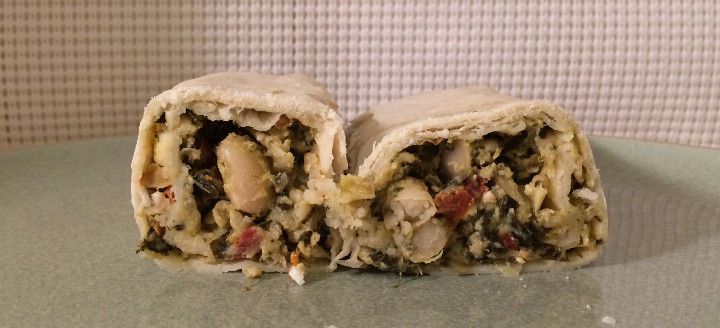 Sweet Earth Greek Burrito