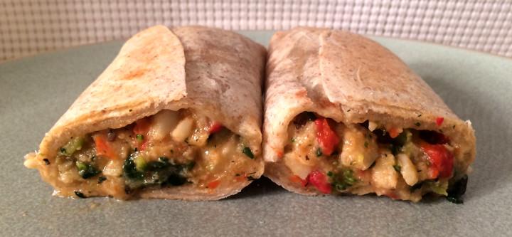 Good Food Made Simple Mediterranean Veggie Burrito