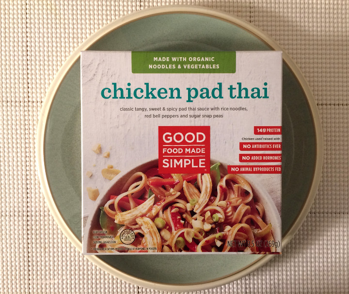 Good Food Made Simple Frozen Meal Review Chicken Pad Thai Freezer
