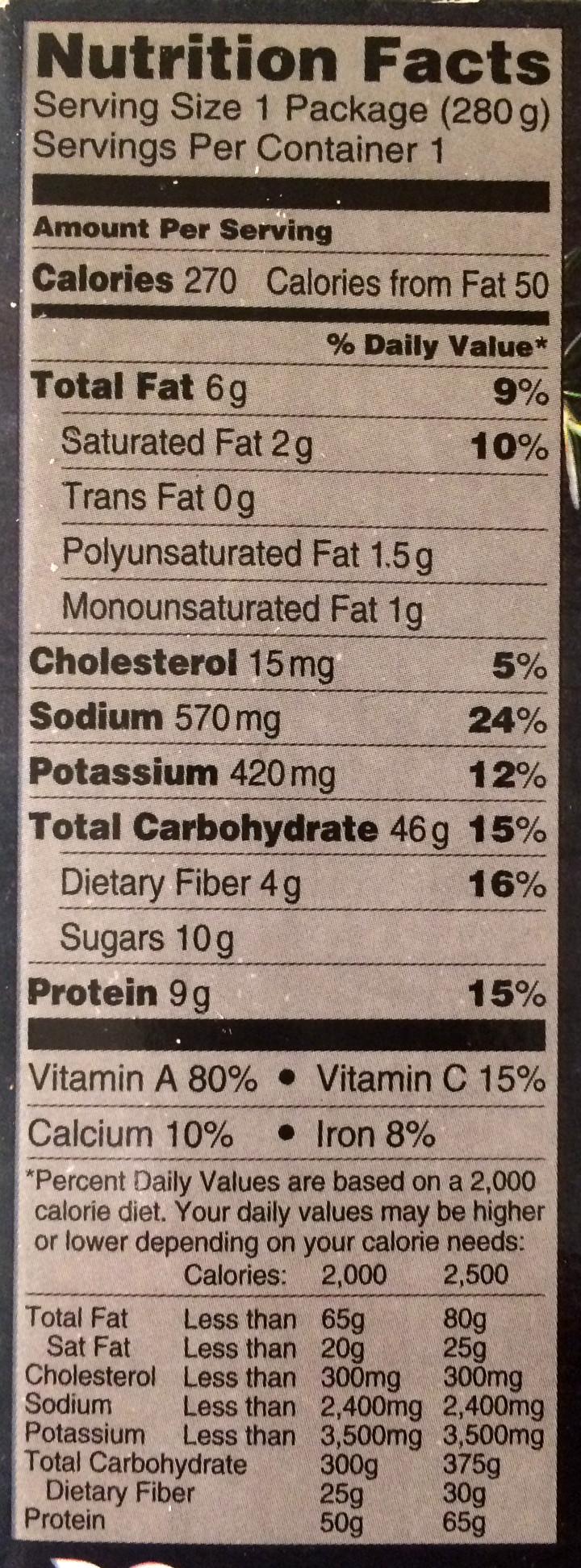 It is a photo of Geeky Lean Cuisine Ingredients Label