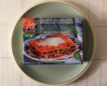 Amy's Lasagna Spinach Béchamel