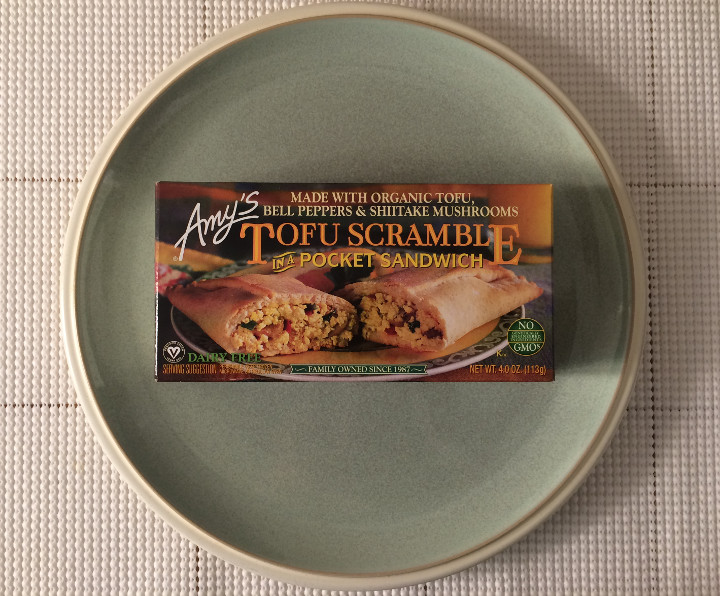 Amy's Tofu Scramble in a Pocket Sandwich
