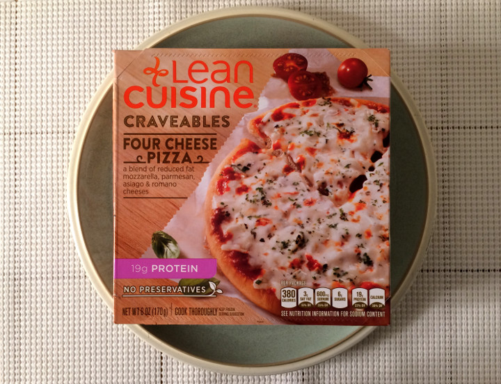 Lean cuisine craveables review four cheese pizza for Are lean cuisine pizzas healthy