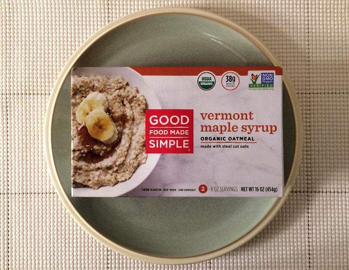 Good Food Made Simple Vermont Maple Syrup Organic Oatmeal