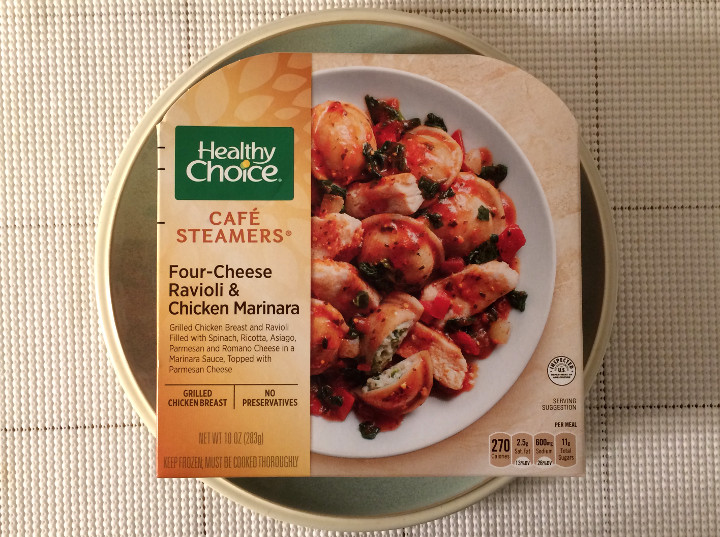 Healthy Choice Four-Cheese Ravioli & Chicken Marinara