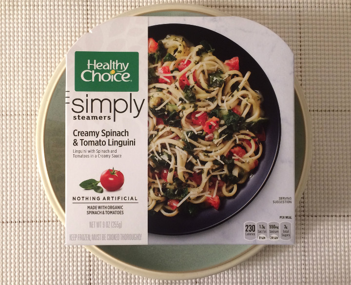 Healthy Choice Creamy Spinach & Tomato Linguini
