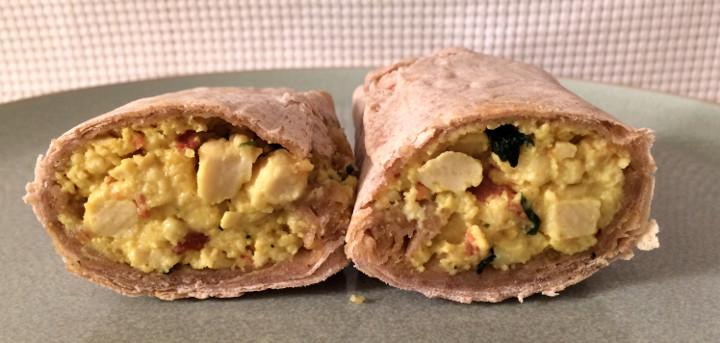 Amy's Breakfast Scramble Wrap