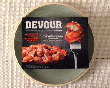 Devour Cheese Ravioli with Sun-Dried Tomato Cream Sauce