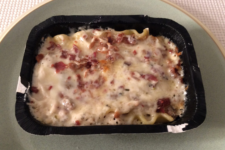 Devour Lasagna Alfredo with Bacon & Sausage