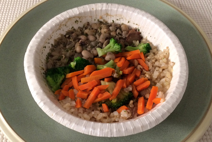 Amy's Brown Rice, Black-Eyed Peas and Veggies Bowl