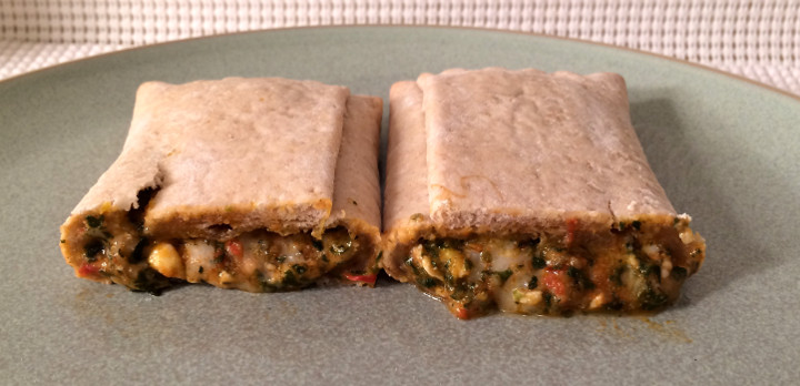 Amy's Spinach Pizza in a Pocket Sandwich