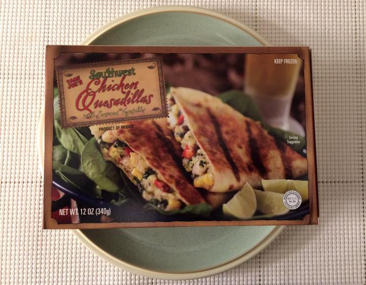 Trader Joe's Southwestern Chicken Quesadillas with Seasoned Vegetables