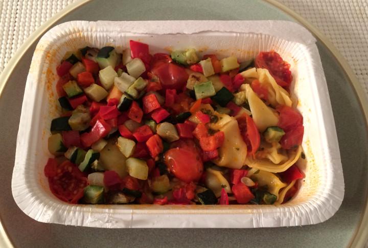 Trader Joe's Ricotta & Spinach Tortellini with Red Pesto