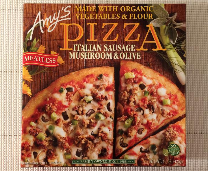 Amy's Meatless Italian Sausage, Mushroom & Olive Pizza