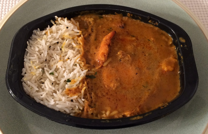 Trader Joe's Korma Fish Curry with Basmati Rice