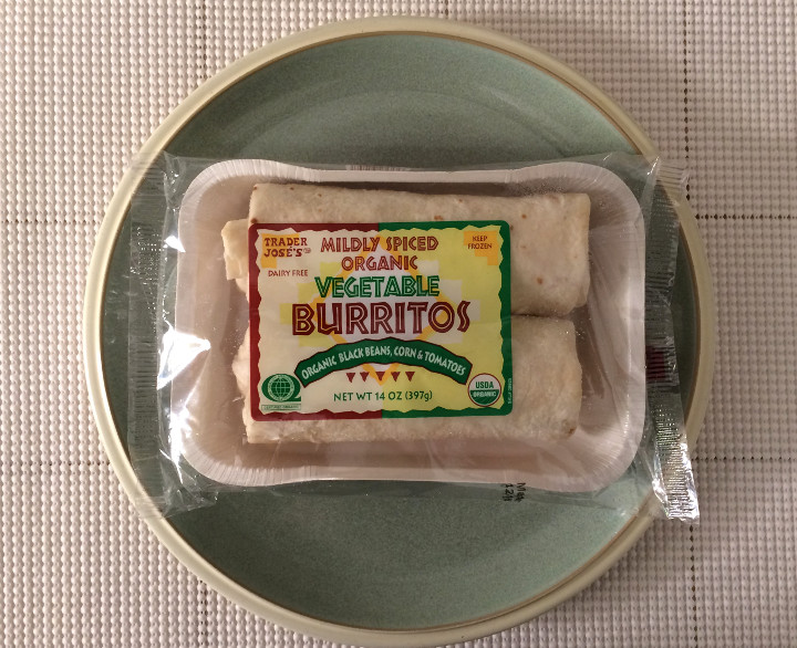 Trader Joe's Mildly Spiced Organic Vegetable Burrito