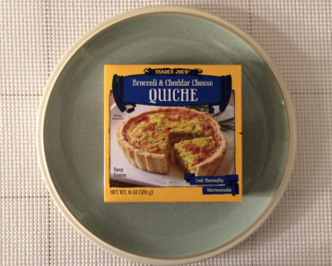 Trader Joe's Broccoli & Cheddar Cheese Quiche