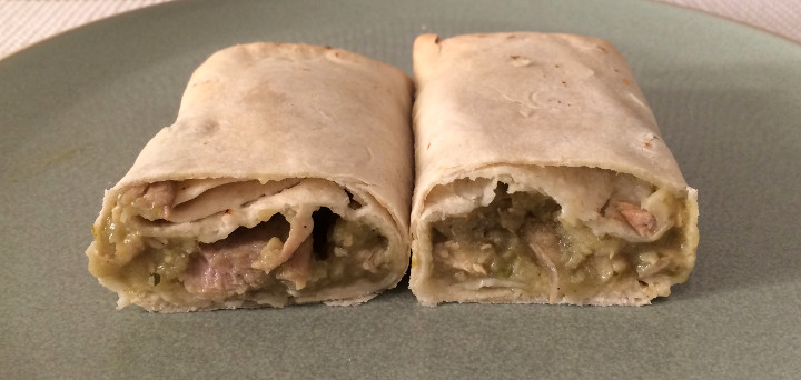 Trader Joe's Chicken Chile Verde Burritos