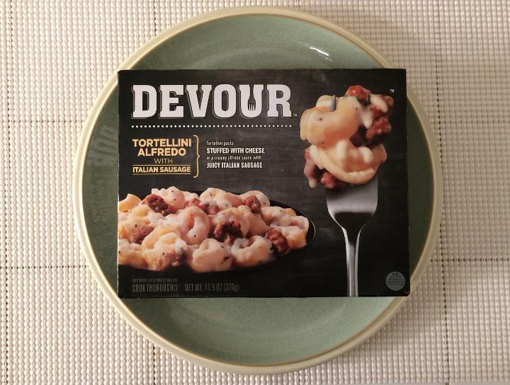 Devour Tortellini Alfredo with Italian Sausage