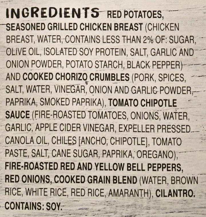 Frontera Chicken and Chorizo Taco Bowl