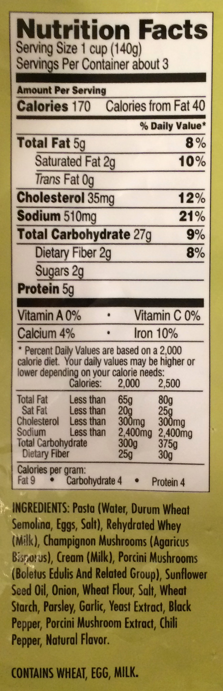 Trader Joe S Fettuccine With Mushrooms Review Freezer