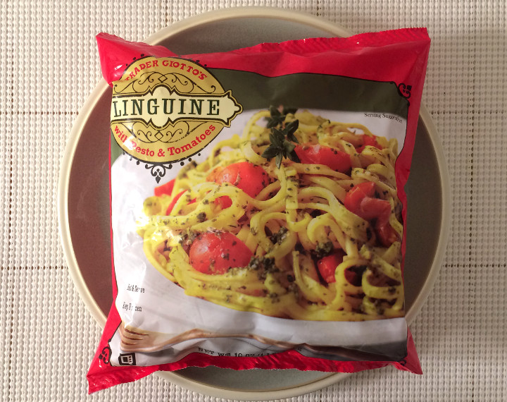 Trader Joe's Linguine with Pesto & Tomatoes