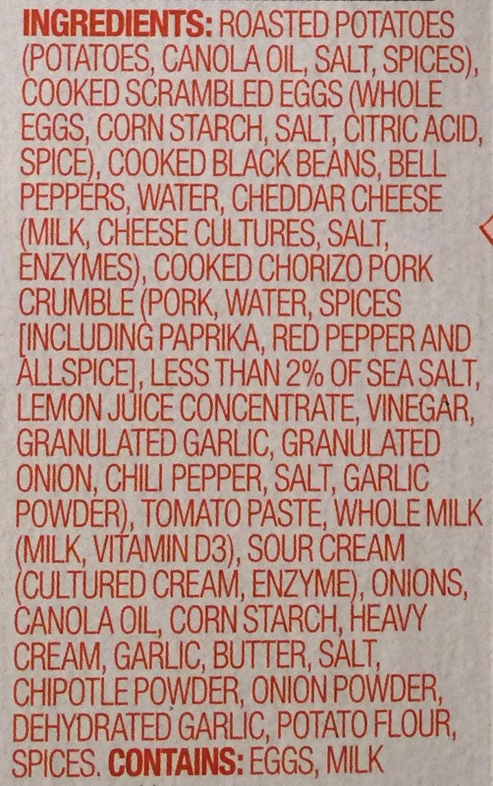 Evol Spicy Chipotle Chorizo Breakfast Bowl