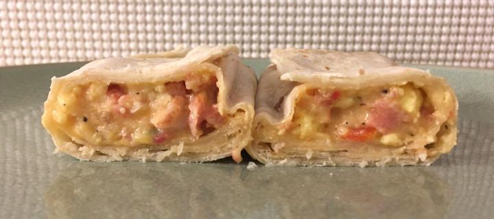 El Monterey Egg, Applewood Smoked Bacon & Cheese Burrito