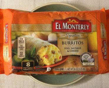 El Monterey Egg, Sausage & Cheese Burrito