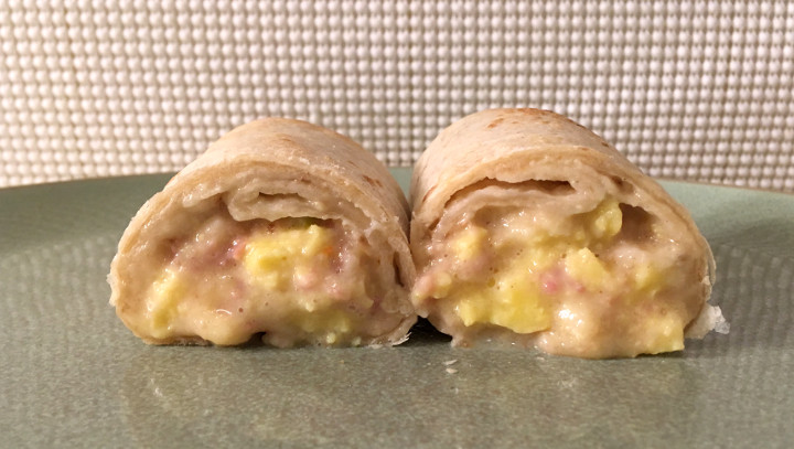 Red's Canadian Bacon, Egg & Three Cheese Burrito