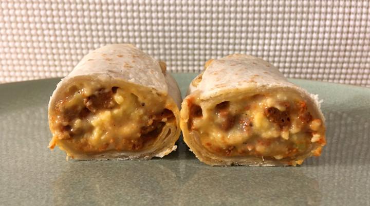 Red's Chicken Chorizo, Egg & Three Cheese Burrito