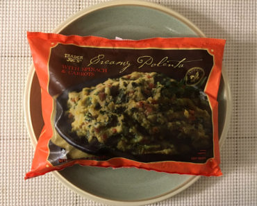 Trader Joe's Creamy Polenta with Spinach and Carrots