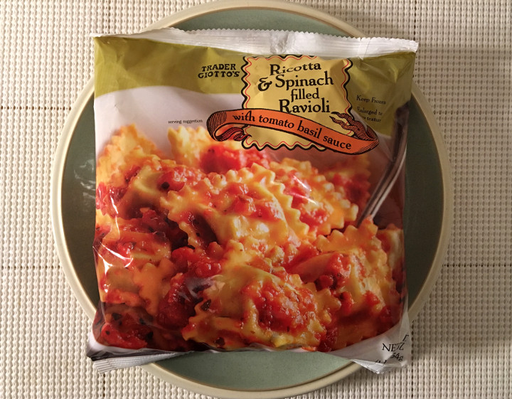 Trader Joe's Ricotta & Spinach Filled Ravioli with Tomato Basil Sauce