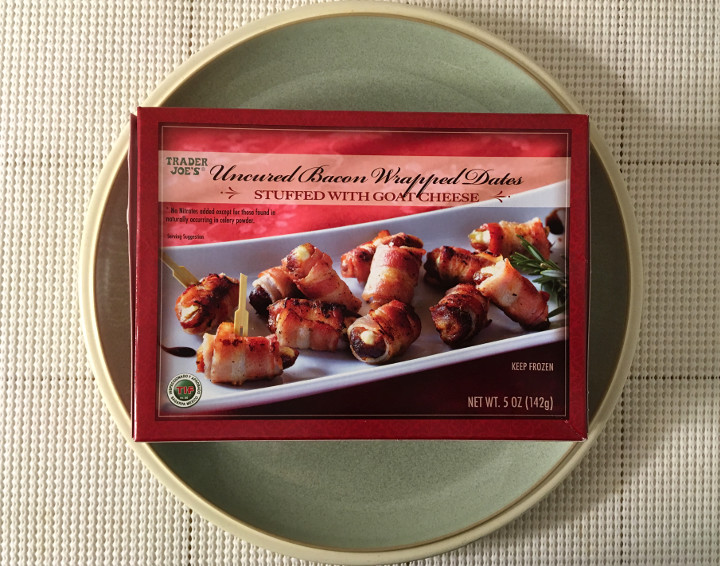 Trader Joe's Uncured Bacon Wrapped Dates Stuffed with Goat Cheese