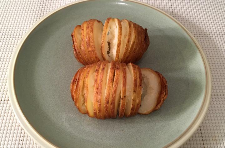 Trader Joe's Hasselback Potatoes with Butter & Sea Salt