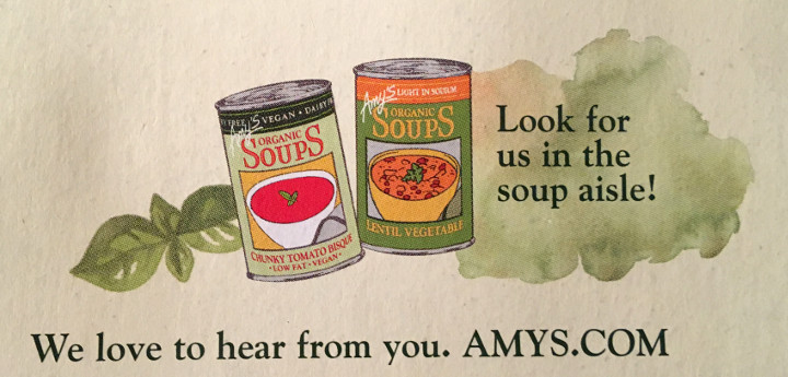 Try Amy's Soup
