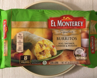 El Monterey Egg, Sausage, Cheese & Potato Burritos