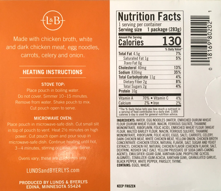 Lunds & Byerlys Chicken Noodle Soup Review