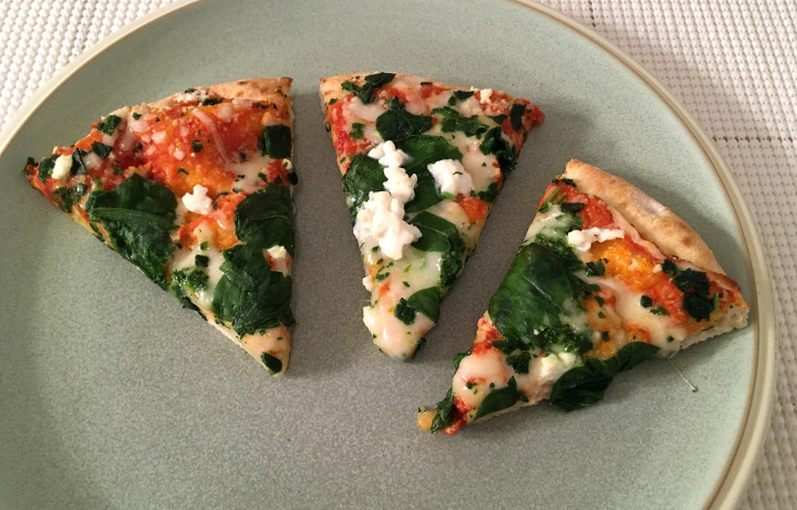 Trader Joe's Organic Spinach & Ricotta Pizza