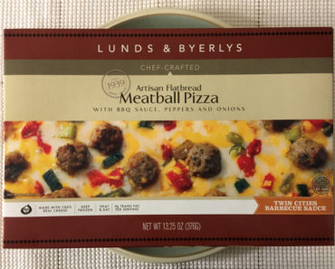 Lunds & Byerlys Artisan Flatbread Meatball Pizza with BBQ Sauce, Peppers and Onions