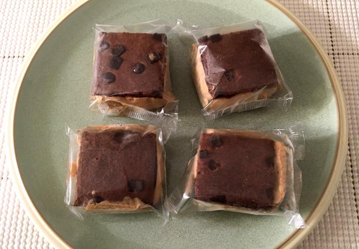 Trader Joe's Brownie Crisp Coffee Ice Cream Sandwiches