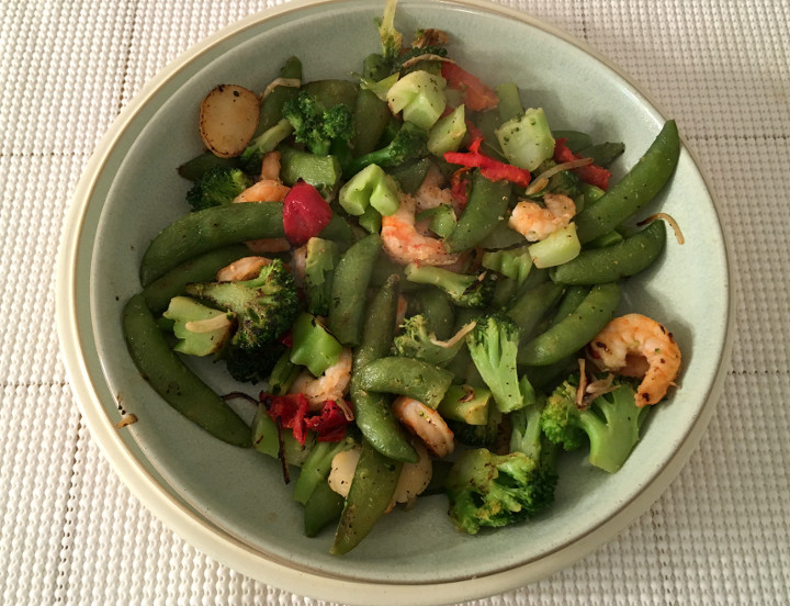 Trader Joe's Shrimp Stir-Fry with Gourmet Pepper Seasoning