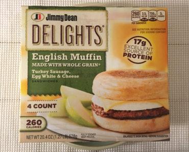 Jimmy Dean Turkey Sausage, Egg White & Cheese English Muffin Breakfast Sandwiches