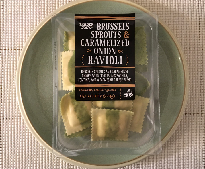 Trader Joe's Brussels Sprouts & Caramelized Onion Ravioli