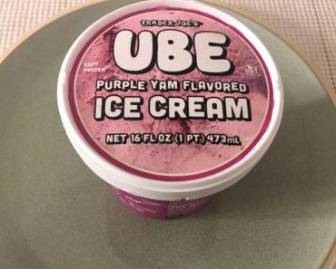 Trader Joe's Ube Purple Yam Flavored Ice Cream