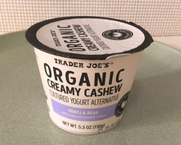 Trader Joe's Vanilla Bean Creamy Cashew Cultured Yogurt Alternative