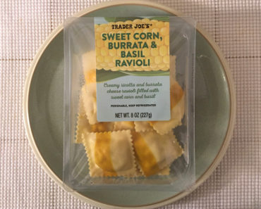 Trader Joe's Sweet Corn, Burrata & Basil Ravioli