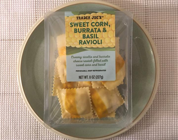 Trader Joe's Sweet Corn, Burrata & Basil Ravioli