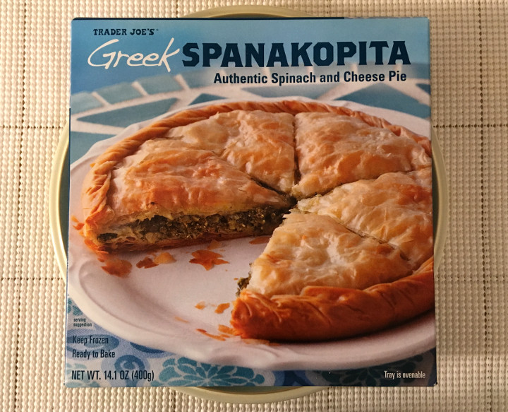 Trader Joe's Greek Spanakopita Authentic Spinach and Cheese Pie