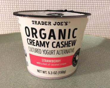 Trader Joe's Strawberry Creamy Cashew Cultured Yogurt Alternative Review